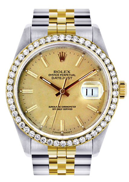 Diamond Rolex Datejust | Stainless Steel