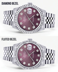 Womens Rolex Datejust Watch 16200 | 36Mm | Purple Dial | Jubilee Band