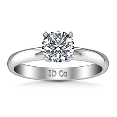 Round Diamond Solitaire Engagement Ring Comfort Fit Round Diamond Diamond 14K White Gold engagement rings imaginediamonds
