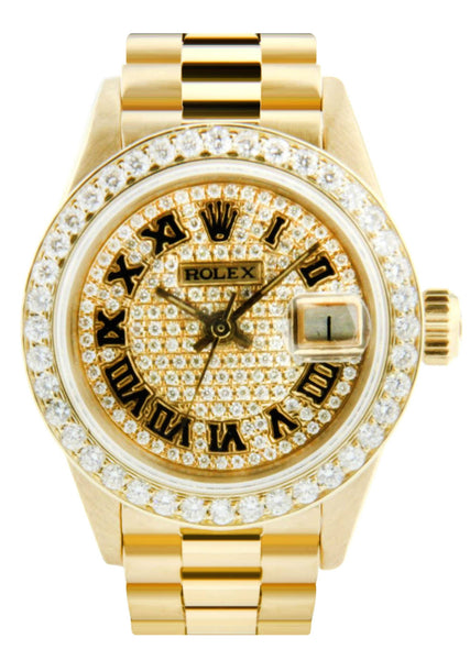 Rolex Datejust Watch For Women | Yellow Gold | 26 Mm