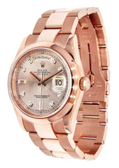 Rolex Day-Date | 18K Pink Gold | 36 Mm Mens Watch FrostNYC