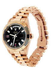 Rolex Day-Date 2 | 18K Rose Gold Mens Watch FrostNYC