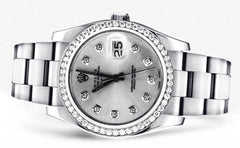 Diamond Rolex Datejust | Stainless Steel | 36 Mm Mens Watch FrostNYC