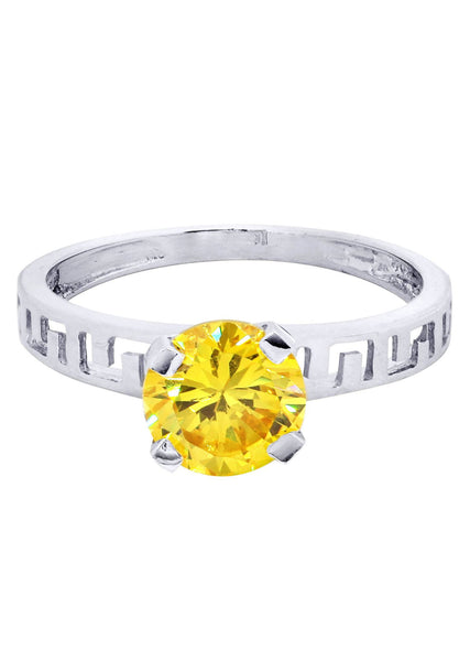 Citrine Promise Ring 10K Gold | 2.1 Grams