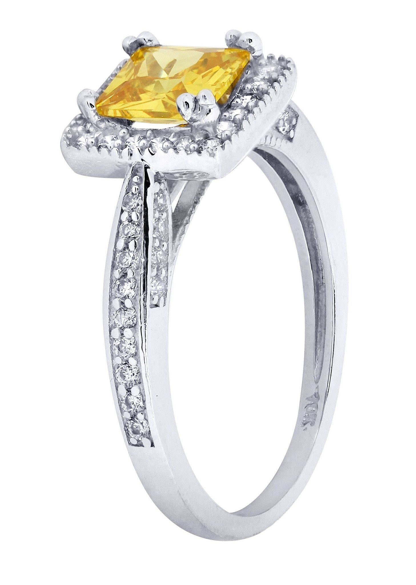 citrine promise ring 10k gold 2 7 grams frostnyc