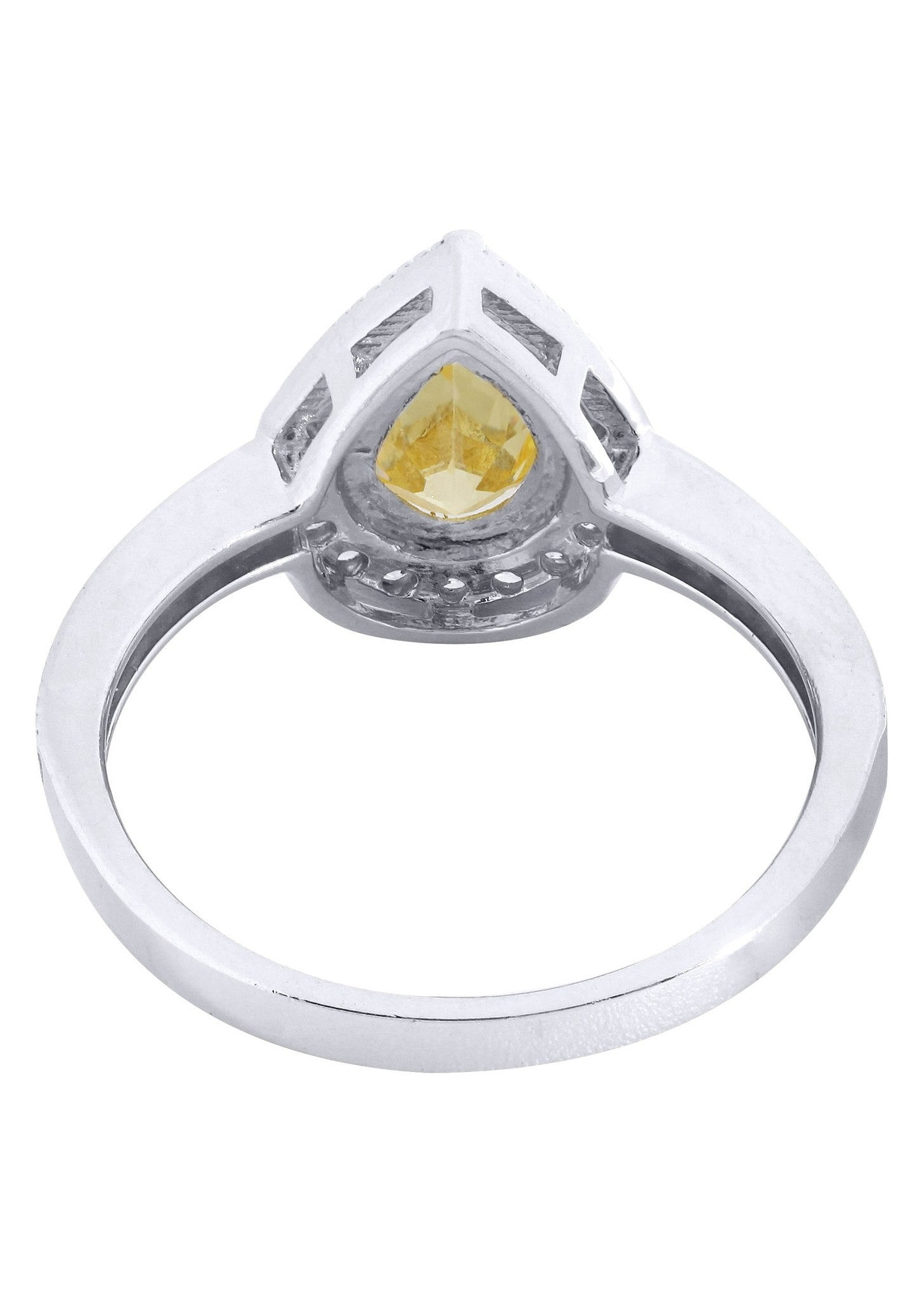 citrine promise ring 10k gold 3 3 grams frostnyc
