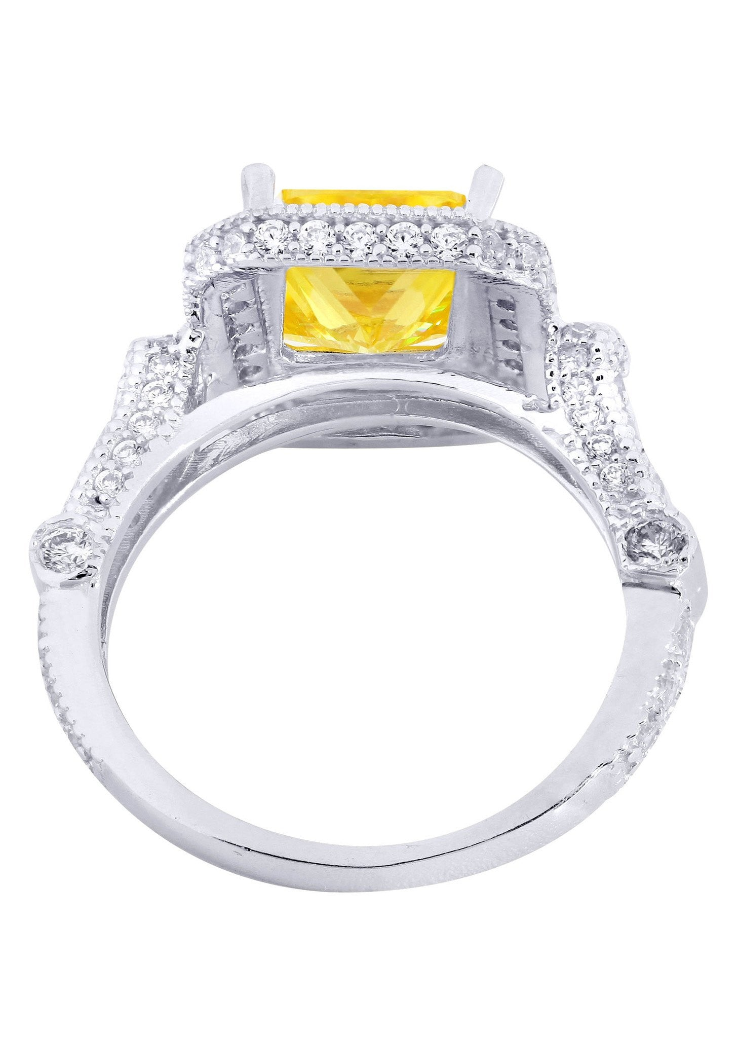 citrine promise ring 10k gold 5 grams frostnyc