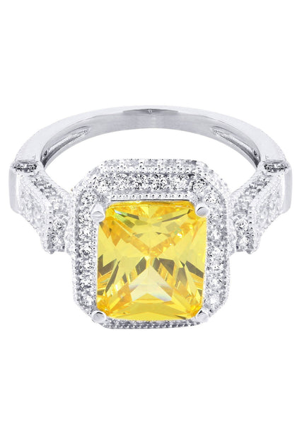 Citrine & Crystal Promise Ring 10K Gold | 5 Grams