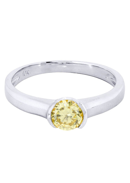 Citrine Promise Ring 10K Gold | 1.8 Grams