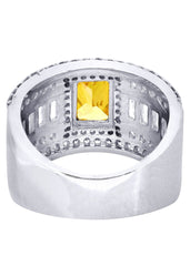 Citrine & Crystal Promise Ring 10K Gold | 8 Grams