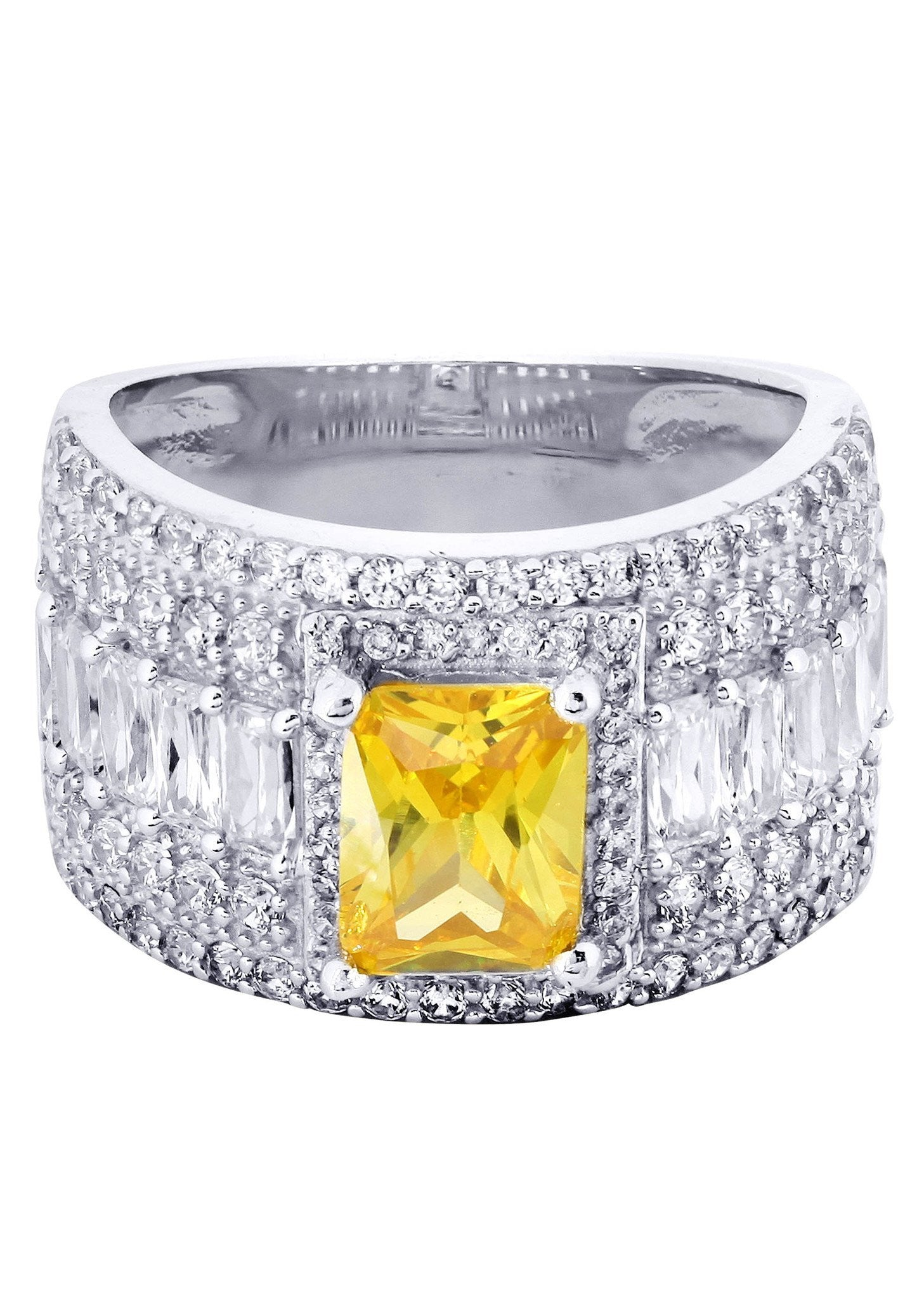 citrine promise ring 10k gold 8 grams frostnyc
