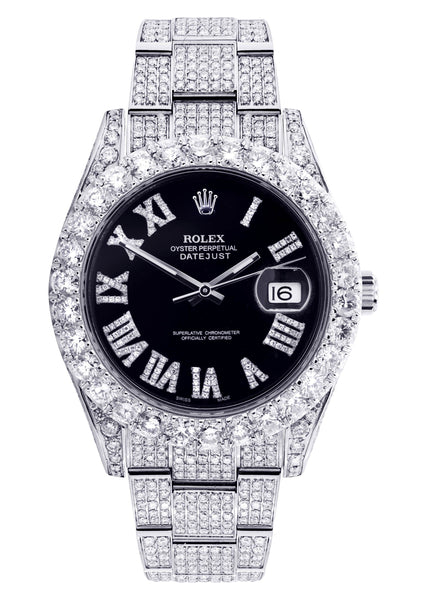 Diamond Rolex Datejust 41 | Custom Diamond Dial | Stainless Steel | 19.5 Carats