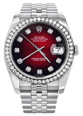 New Style | Hidden Clasp | Rolex Datejust Watch | 36Mm | Red Dial | Jubilee Band CUSTOM ROLEX MANUFACTURER 11