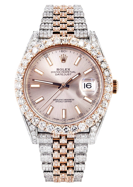 Diamond Rolex Datejust 41 Two Tone Rose Gold And Steel | 14 Carats