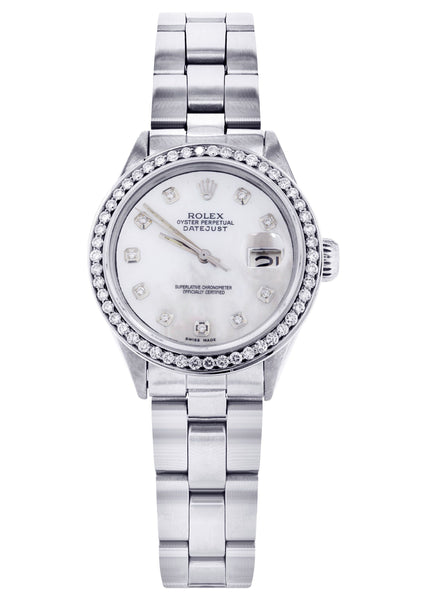 Diamond Rolex Datejust 36 MM | 2 Carat | Diamond Mother of Pear Dial