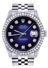 Mens Rolex Datejust Watch | 36Mm | Blue Dial | Jubilee Band CUSTOM ROLEX FrostNYC