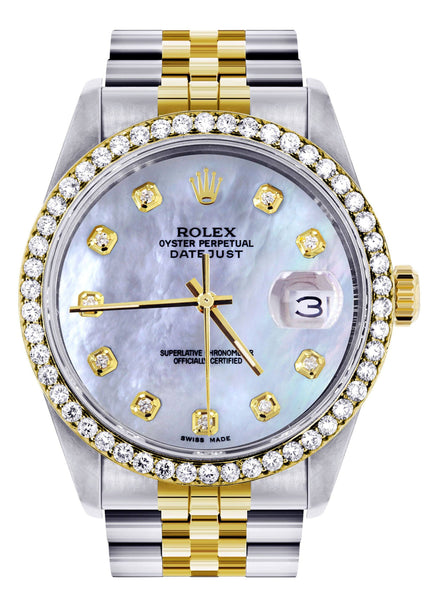 Two Tone Rolex Datejust Watch 16200 | 36Mm | Mother of Pearl Dial | Jubilee Band