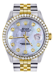 Two Tone Rolex Datejust Watch | 36Mm | Mother of Pearl Dial | Jubilee Band CUSTOM ROLEX FrostNYC