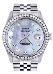 Rolex Datejust Watch | 36Mm | Mother of Pearl Dial | Jubilee Band CUSTOM ROLEX FrostNYC