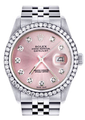 Rolex Datejust Watch | 36Mm | Pink Dial | Jubilee Band CUSTOM ROLEX FrostNYC