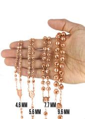 Rosary Rose Gold Chain 10K