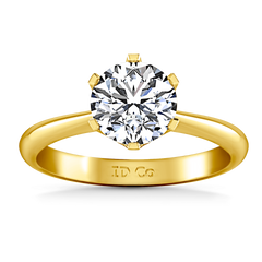 Solitaire Diamond Engagement Ring Tresa 14K Yellow Gold engagement rings imaginediamonds