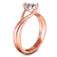 Solitaire Diamond Engagement Ring Wisteria 14K Rose Gold engagement rings imaginediamonds