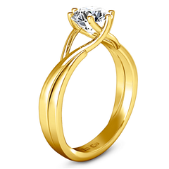 Solitaire Diamond Engagement Ring Wisteria 14K Yellow Gold engagement rings imaginediamonds