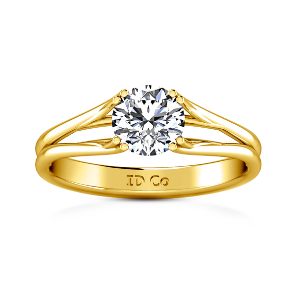 Solitaire Diamond Engagement Ring Adagio 14K Yellow Gold