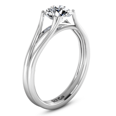 Round Diamond Solitaire Engagement Ring Adagio 14K White Gold engagement rings imaginediamonds