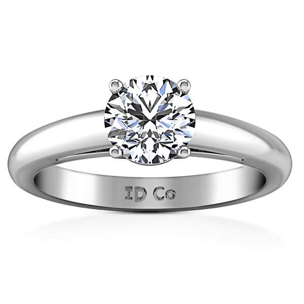 Round Diamond Solitaire Engagement Ring Avant 14K White Gold