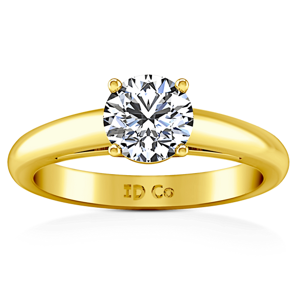 Solitaire Diamond Engagement Ring Avant 14K Yellow Gold