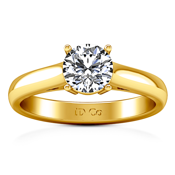 Solitaire Diamond Engagement Ring Chiara 14K Yellow Gold
