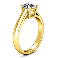 Solitaire Diamond Engagement Ring Chiara 14K Yellow Gold engagement rings imaginediamonds
