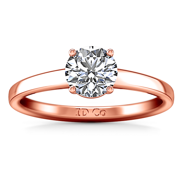 Solitaire Diamond Engagement Ring Nuovo 14K Rose Gold
