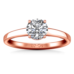 Solitaire Diamond Engagement Ring Nuovo 14K Rose Gold engagement rings imaginediamonds
