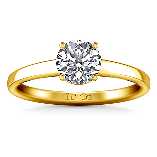 Solitaire Diamond Engagement Ring Nuovo 14K Yellow Gold
