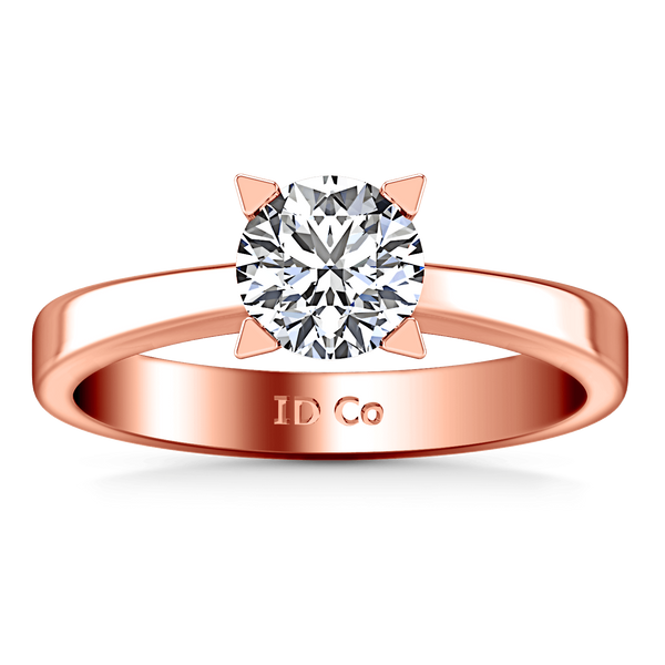 Solitaire Diamond Engagement Ring Icon 14K Rose Gold