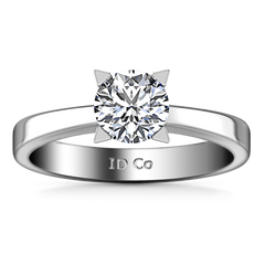 Round Diamond Solitaire Engagement Ring Icon 14K White Gold engagement rings imaginediamonds