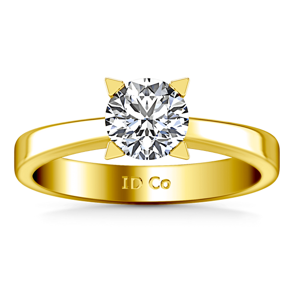 Solitaire Diamond Engagement Ring Icon 14K Yellow Gold