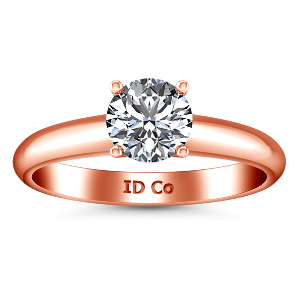 Solitaire Diamond Engagement Ring Carys 14K Rose Gold