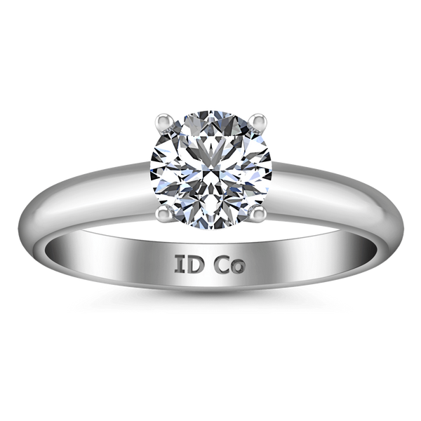 Round Diamond Solitaire Engagement Ring Carys 14K White Gold