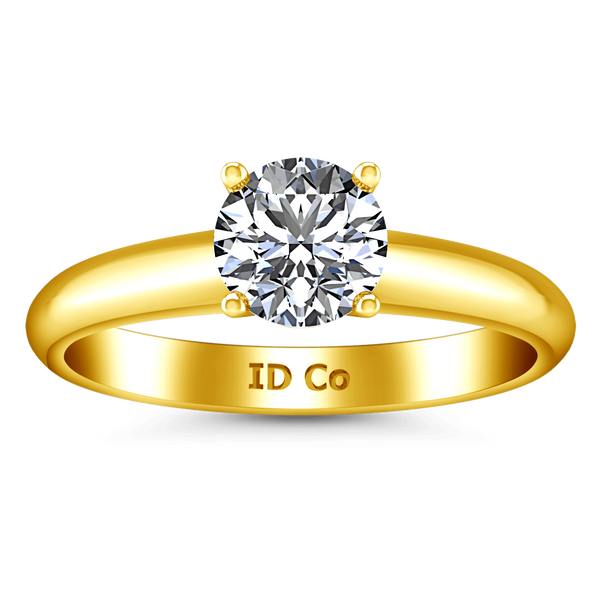 Solitaire Diamond Engagement Ring Carys 14K Yellow Gold