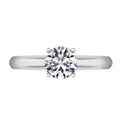 Round Diamond Solitaire Engagement Ring Carys 14K White Gold engagement rings imaginediamonds
