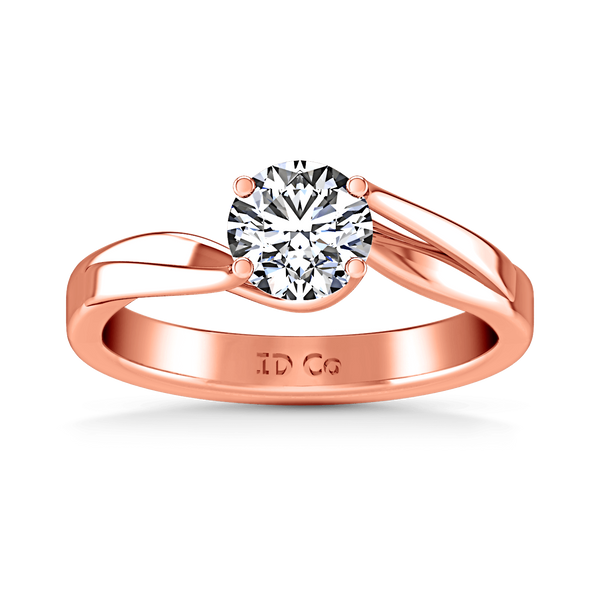 Solitaire Diamond Engagement Ring Laurel 14K Rose Gold