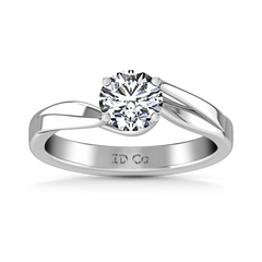 Round Diamond Solitaire Engagement Ring Laurel 14K White Gold engagement rings imaginediamonds