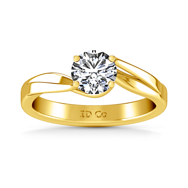 Solitaire Diamond Engagement Ring Laurel 14K Yellow Gold