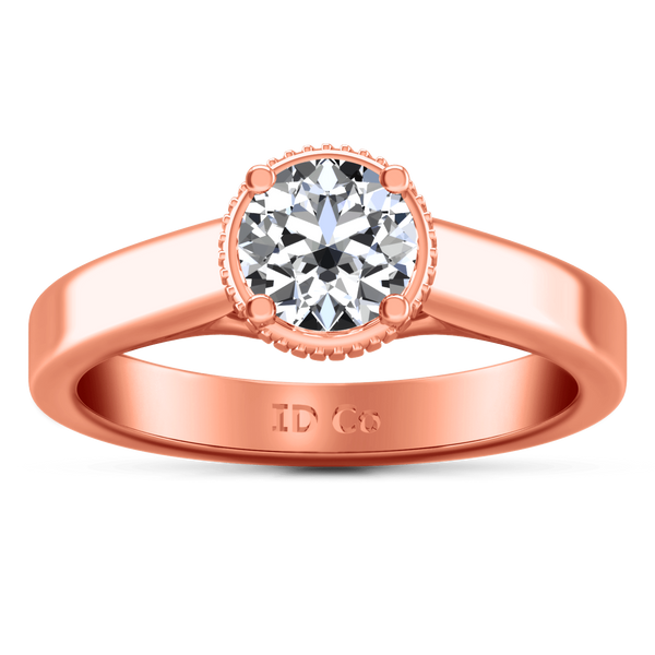 Solitaire Diamond Engagement Ring Carina  14K Rose Gold