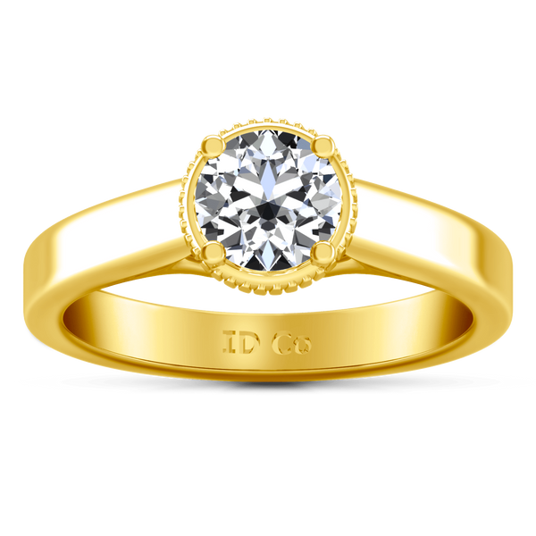 Solitaire Diamond Engagement Ring Carina  14K Yellow Gold
