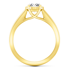 Solitaire Diamond Engagement Ring Carina 14K Yellow Gold engagement rings imaginediamonds